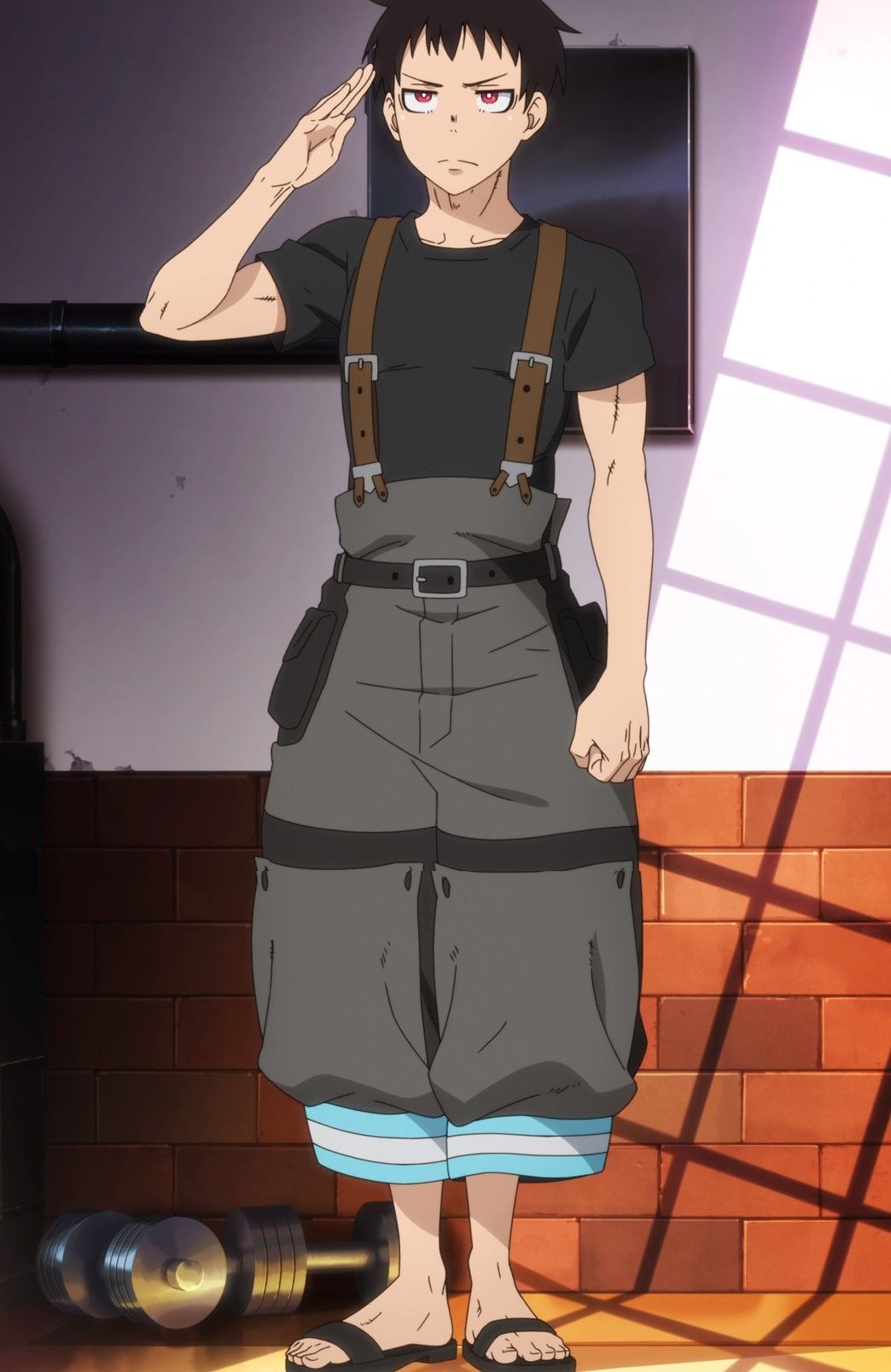Fire Force (Episode 1) Shinra Kusakabe Enlists (With