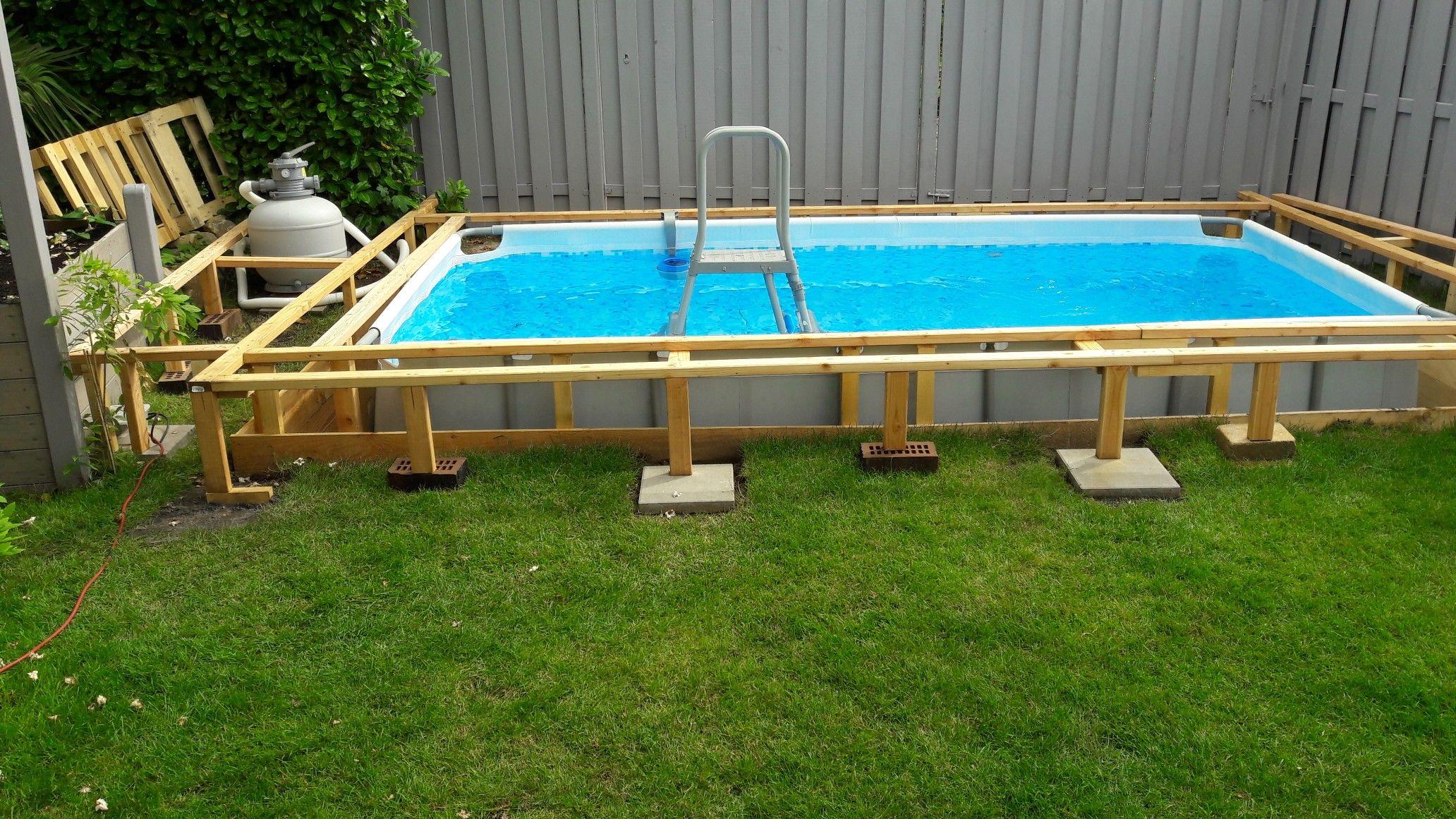 Pin Von Ronny Fenske Auf Pool Selber Bauen Gartenpools Pool Rechteckig Eigenen Pool Bauen