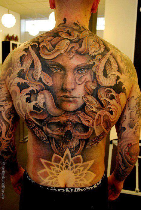 0270d40db Medusa Full Back Tattoo | Tattoos | Medusa tattoo, Medusa tattoo ...