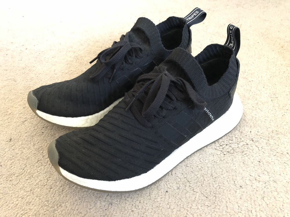 uk availability d37b2 2bbed Adidas NMD R2 Primeknit Sneakers Black Japanese BY9696 Men's ...
