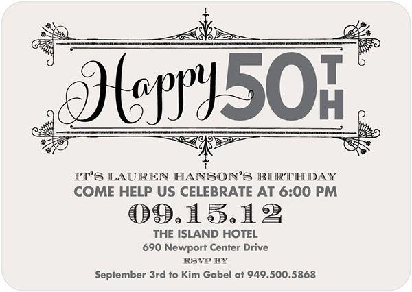 50th Birthday Party Ideas for Men Women Tiny Prints – Tiny Prints Birthday Party Invitation