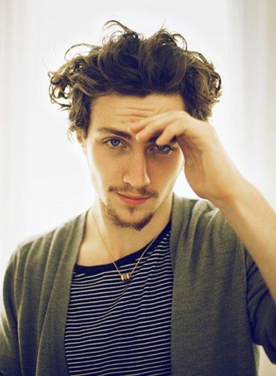 Aaron Taylor-Johnson | Haircuts for men, Curly hair men ...