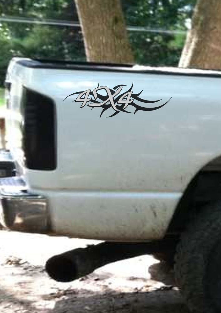 barbed wire car truck decal,f150,chevy,dodge,toyota ONE SIDE ONLY ON ...