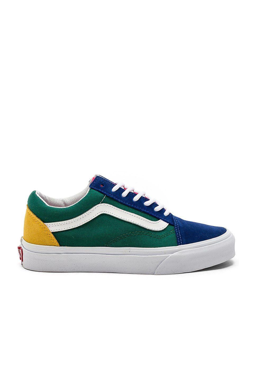 Vans Old Skool in Blue \u0026 Green \u0026 Yellow