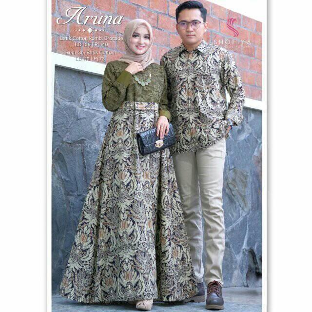 Terbaru Wa 0895 2103 6753 Gamis Couple Aruna Batik Fashion Batik Dress Batik Couple
