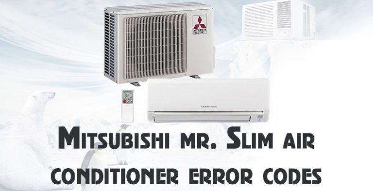 Mitsubishi Mr Slim Air Conditioner Error Codes Mitsubishi Air Conditioner Error Code Air Conditioner