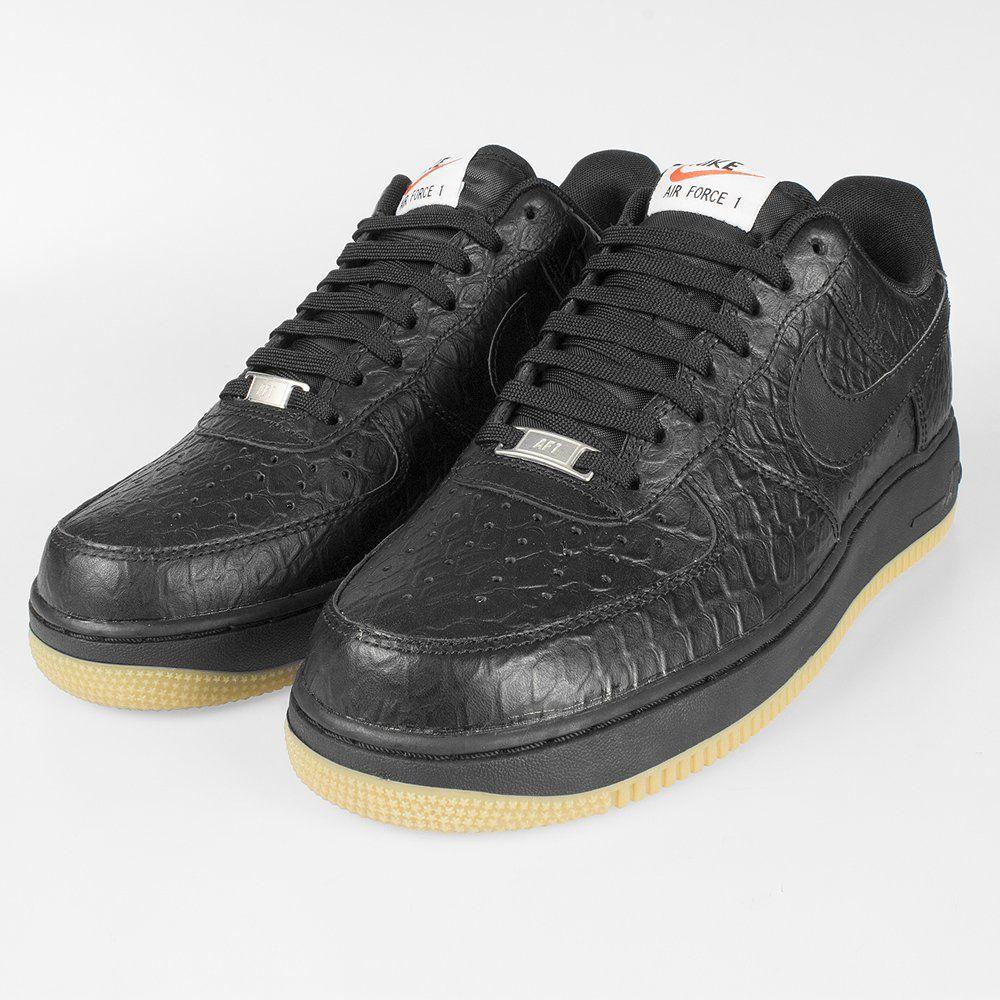 NIKE Air Force 1 'Croc' Black Nike air force, Nike