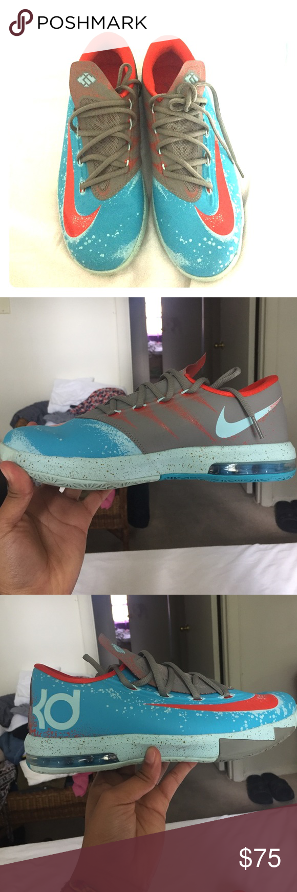 quality design 3b327 651eb Nike KD VI 6 Maryland Blue Crab Gamma Blue  Orange size Y7 599424-400  women s size 9 men s size 7.5 Nike Shoes Athletic Shoes