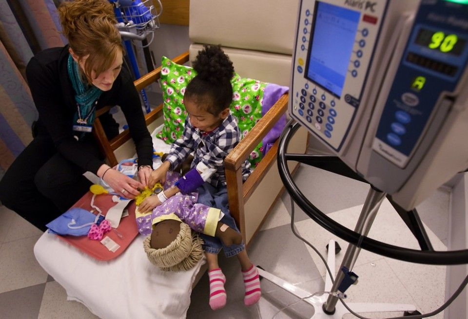 Medical play helps children cope with their illnesses and