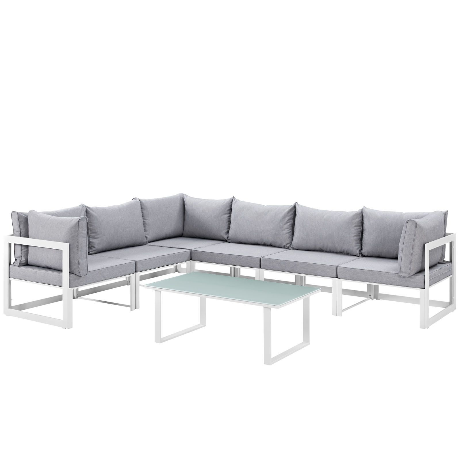 Best Chance 7 Piece Outdoor Patio Sectional Sofa Set White 400 x 300