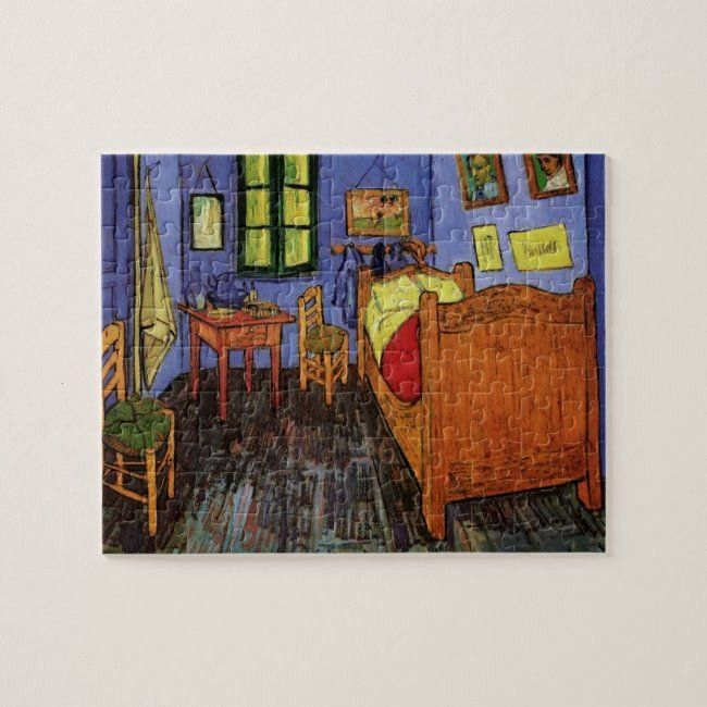 Gogh Vincents Bedroom in Arles Fine Art Jigsaw PuzzleVan Gogh Vincents Bedroom in Arles Fine Art Jigsaw Puzzle Bedroom in Arles by Vincent Van Gogh Tapestry Cafe Terrace...