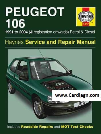 Peugeot 106 1991 2004 Haynes Service Repair Manual Repair Manuals Peugeot Repair