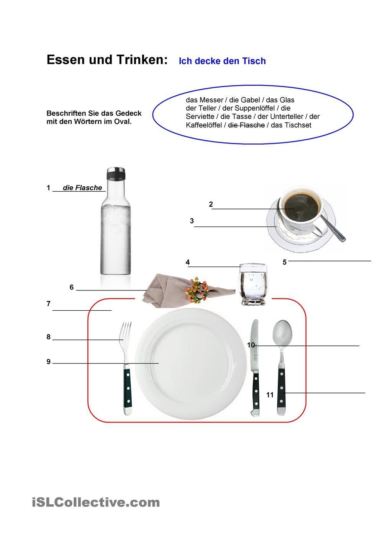 Essen und Trinken | Deutsche sprache, Essen und trinken ...