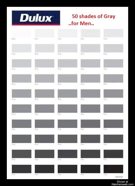Fifty Shades Of Grey Hair 50 Shades Of Gray For Men: different colours of grey paint