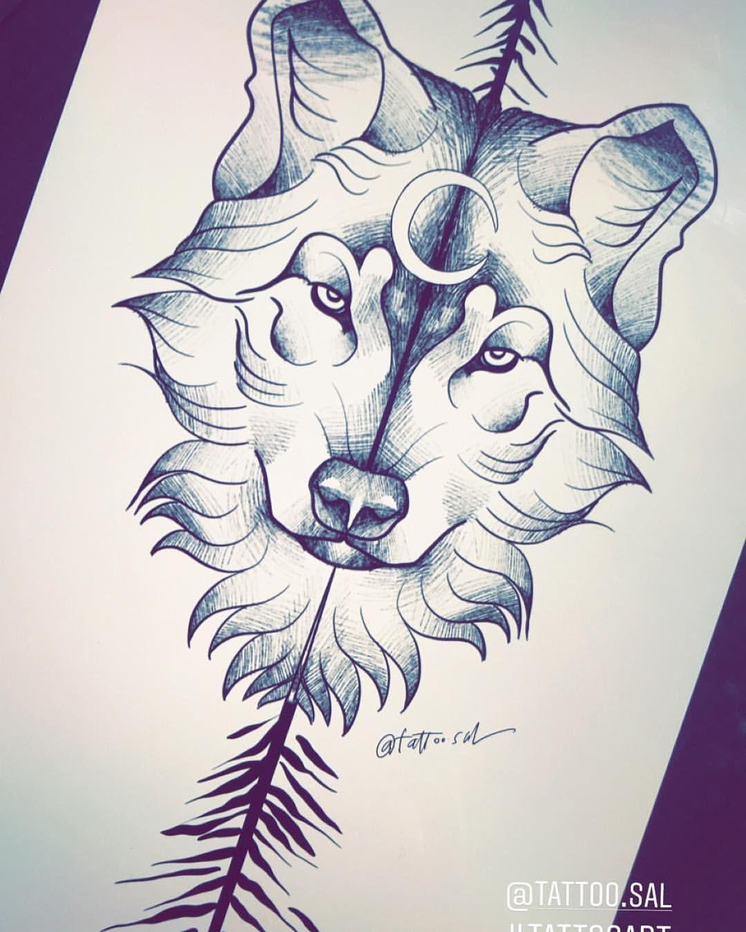 Wolftattoodesign Tattoo Sal Salculture Drawing Art Wolf Tattoodesign Wolf Tattoo Design Wolf Tattoo Tattoo Designs