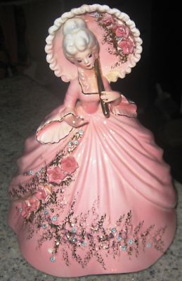 White Haired Lady With Pink Dress Amp Pink Parasol W White
