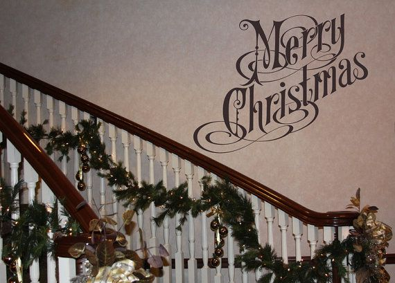 Wall Decal Merry Christmas Removable Vinyl Wall Decal Christmas - Christmas wall decals removable