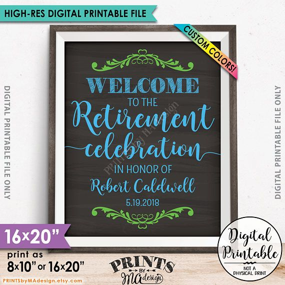 Retirement Party Sign Welcome to the Retirement Celebration - retirement party flyer template