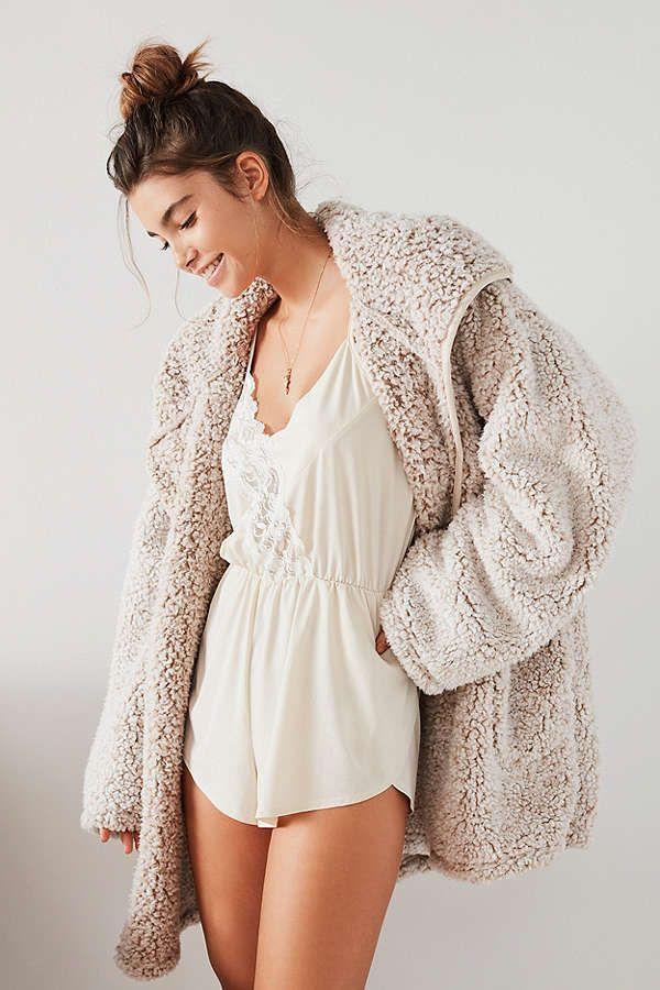 Uo Shaila Oversized Fuzzy Jacket Urban Outfitters Style
