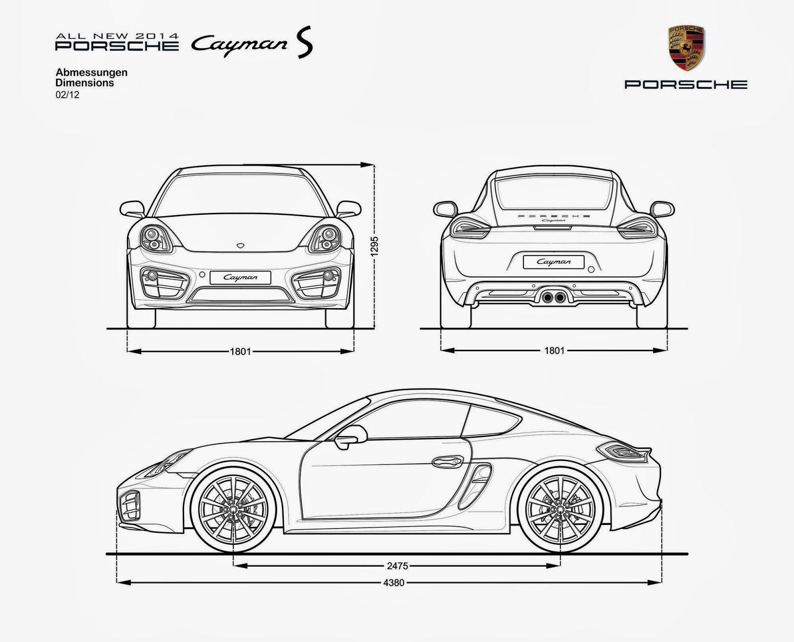 A Porsche Cayman S Blueprints Cgfrog Com 1