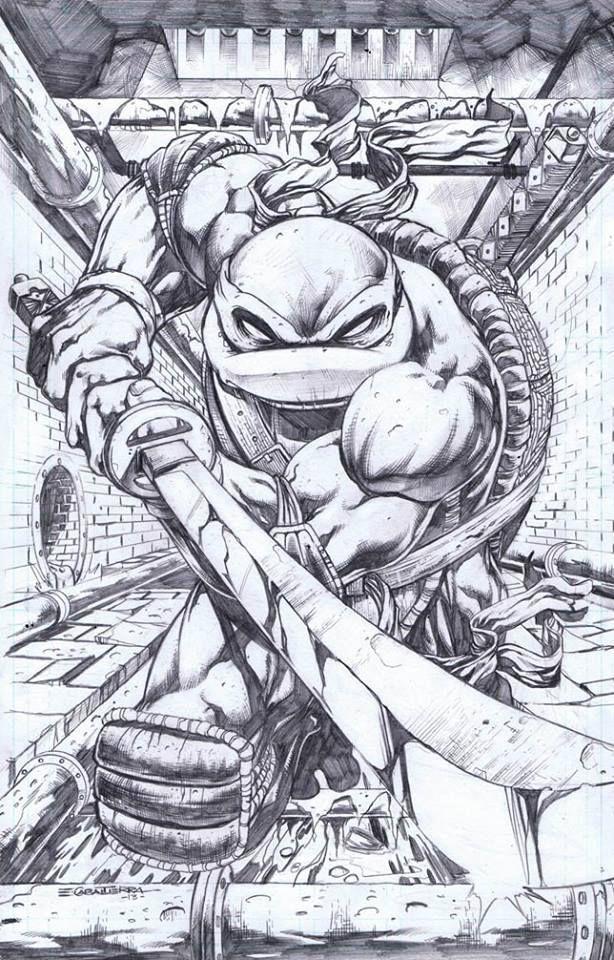 Emil Cabaltierra Dessin Tortue Ninja Coloriage Tortue Ninja