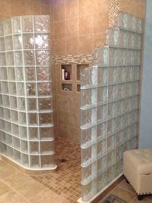 72 X 48 Prefabricated Glass Block Shower Wall Kit With A
