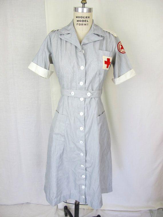 1940s Rare Ww2 American Red Cross Uniform American Red