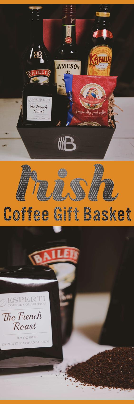 Irish Coffee Gift Basket Coffee gifts, Gift baskets