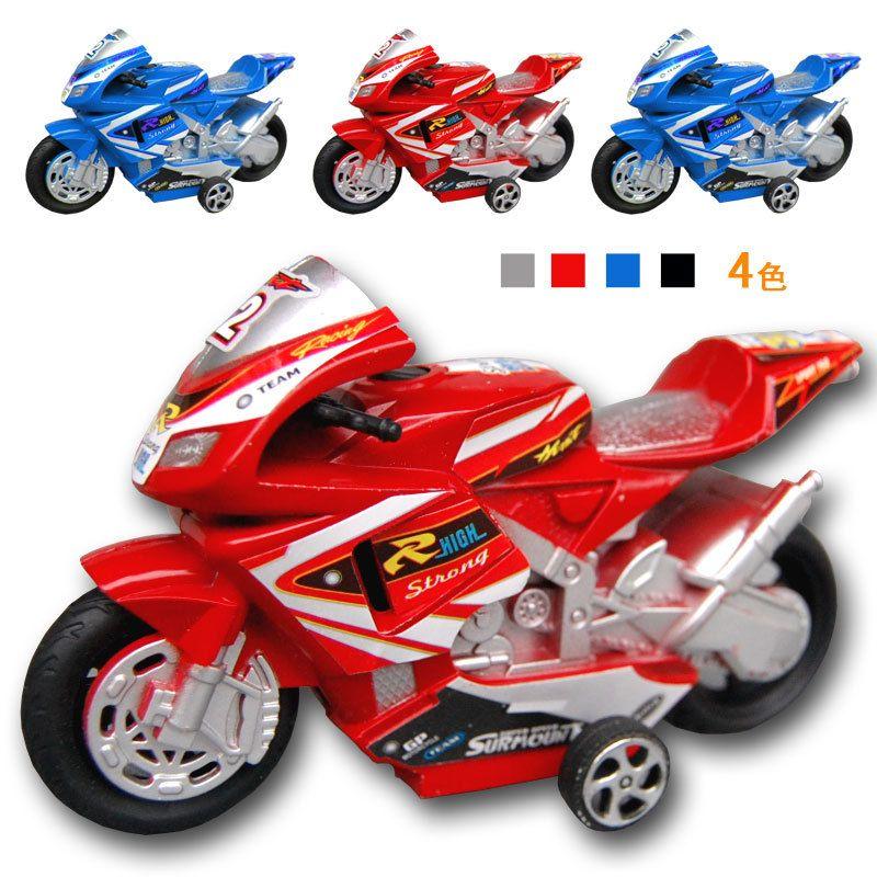 1 32 Children Q Vertion Mini Pull Back Motorcycles Boy Toys Plastic