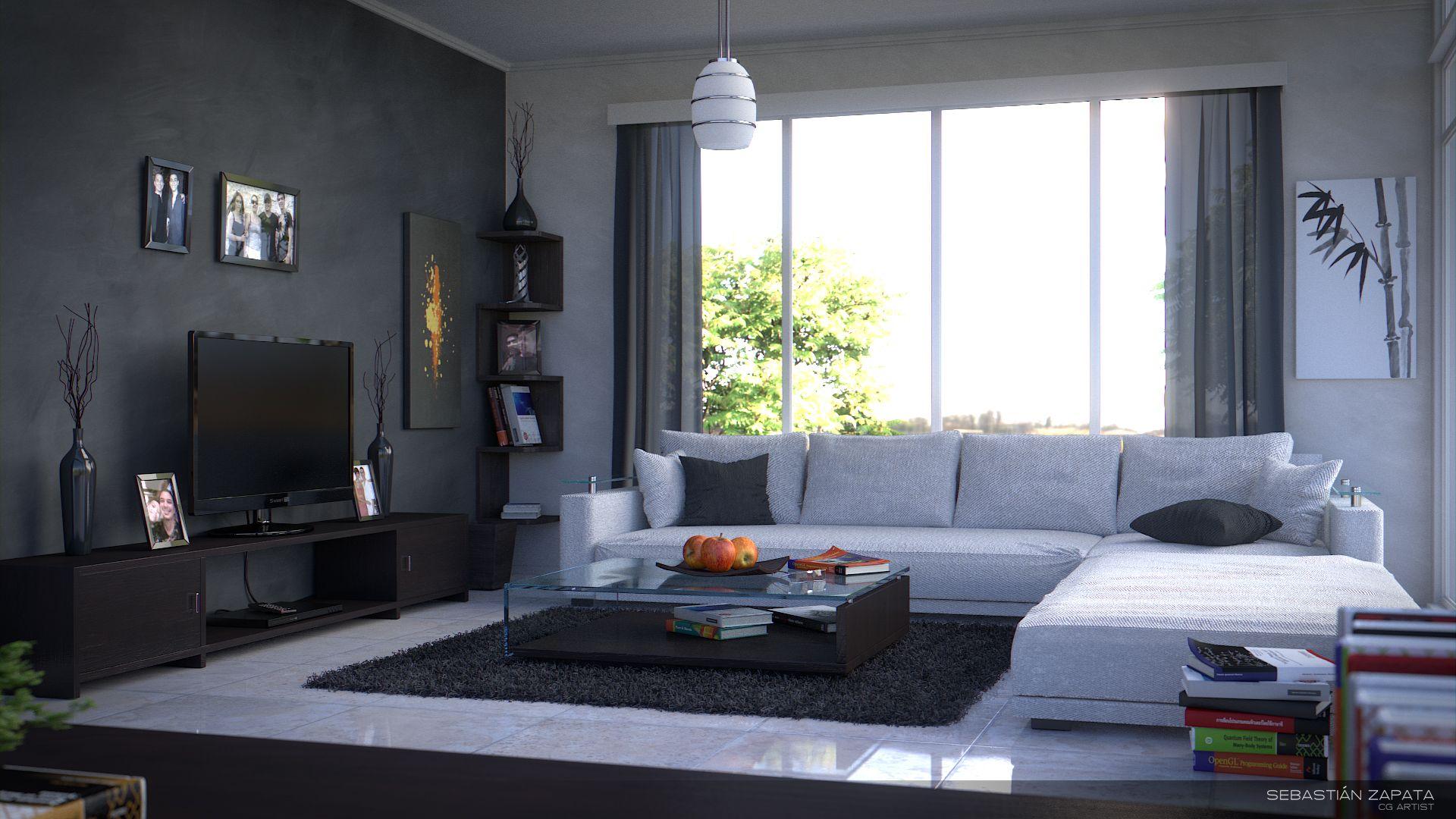 Modern #interior #design rendered by Sebastian Zapata | Modern ...