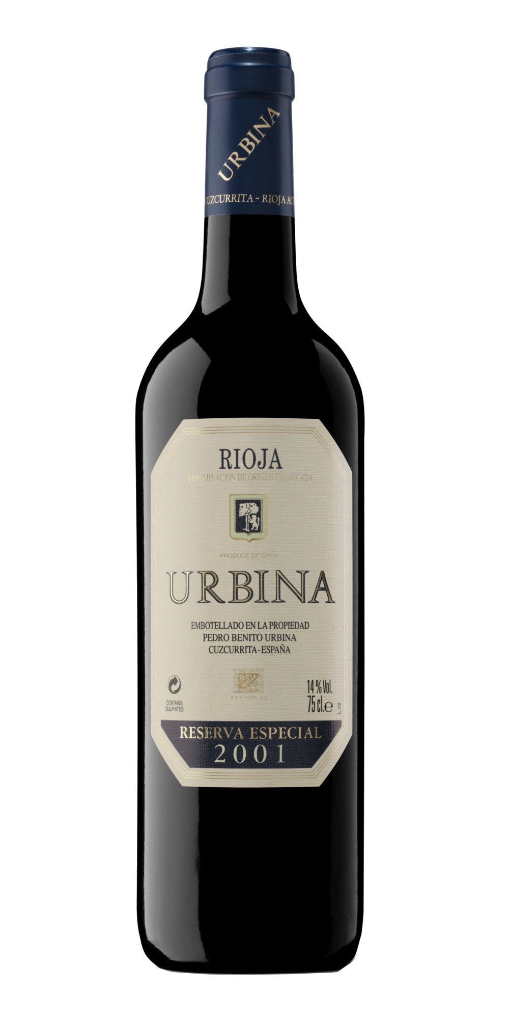 Botella Urbina Reserva Especial 2001 Tempranillo Doc Rioja Comprar