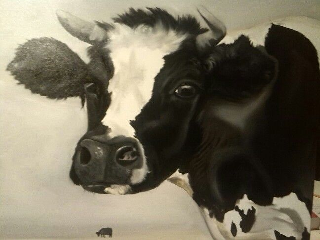 Cow Oil on canvas 12.2014 sold