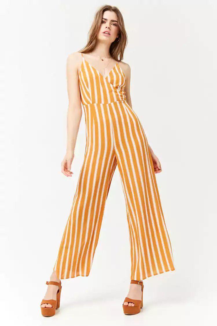 2217f96d144 Product Name Stripe Surplice Jumpsuit