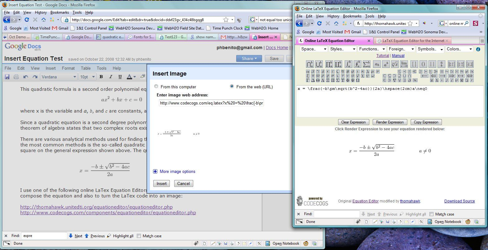 Equations In Google Docs Equations How To Do Math Quadratics