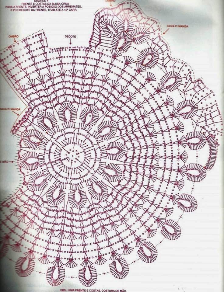 Ana Maria Braga blouse with graphic | crochet remeras verano ...