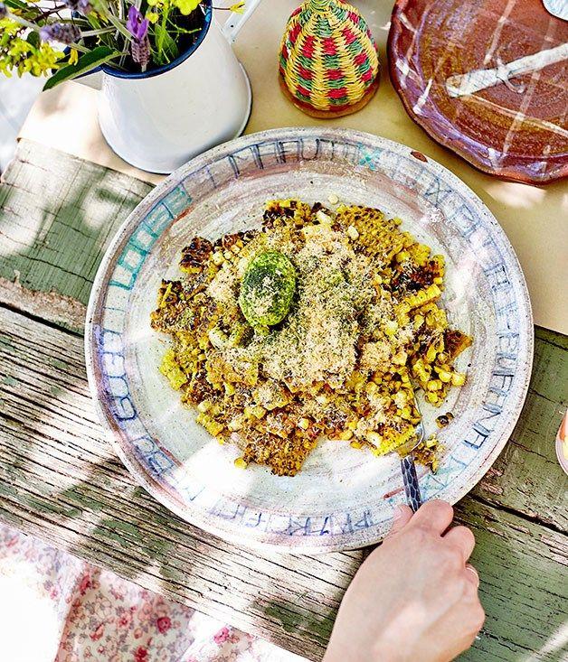 Corn Salad With Prawn Salt Recipe Food Recipes Corn Salads