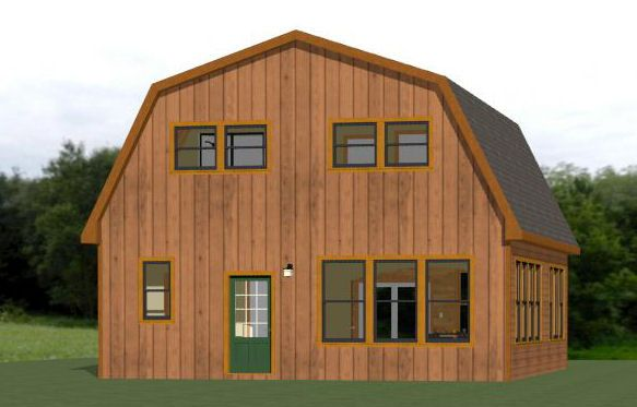 28x32 House 28X32H4K 1544 sq ft Arkkitehtuuri – 28X32 Garage Plans