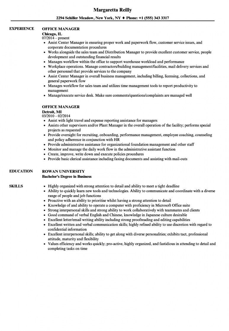 Explore Our Example Of Office Manager Job Description Template Office Manager Job Description Office Manager Resume Office Manager Jobs
