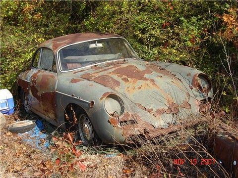 porsche 357 d but ann es 1960 paves 1 pinterest voiture voitures abandonn es et casse auto. Black Bedroom Furniture Sets. Home Design Ideas