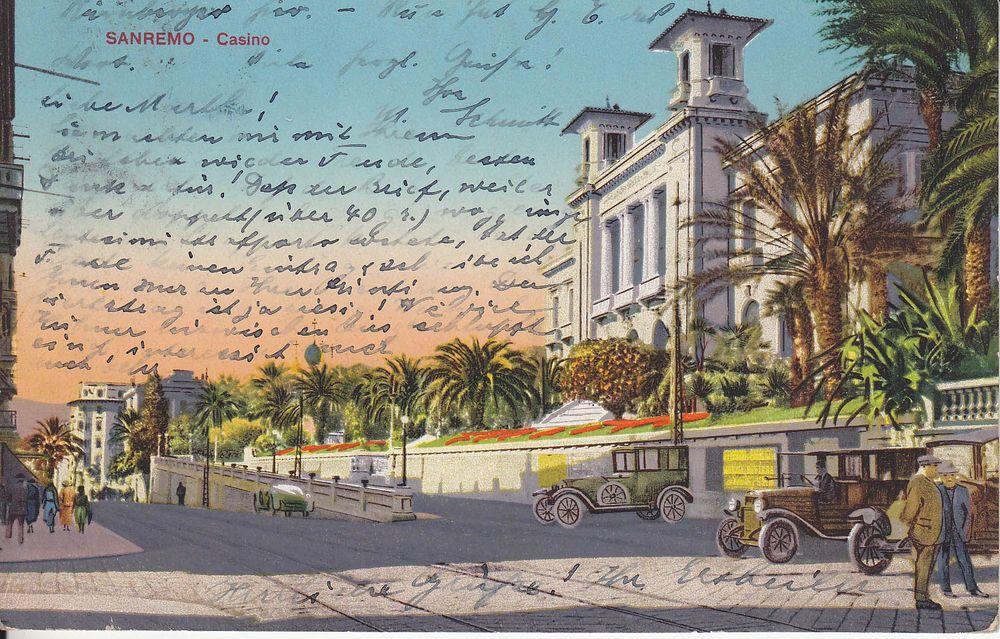 AK PK San Remo. Italy Italia gelaufen 1929.
