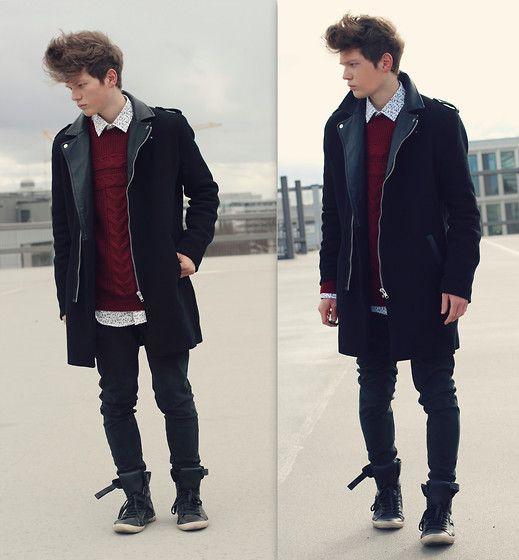 H&M Coat, Zara Shirt, Zara Pullover