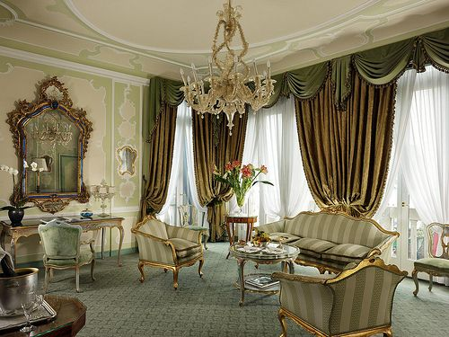 Hotel Gritti Palace, Venice—The Hemingway Grand Canal Suite Sitting Room