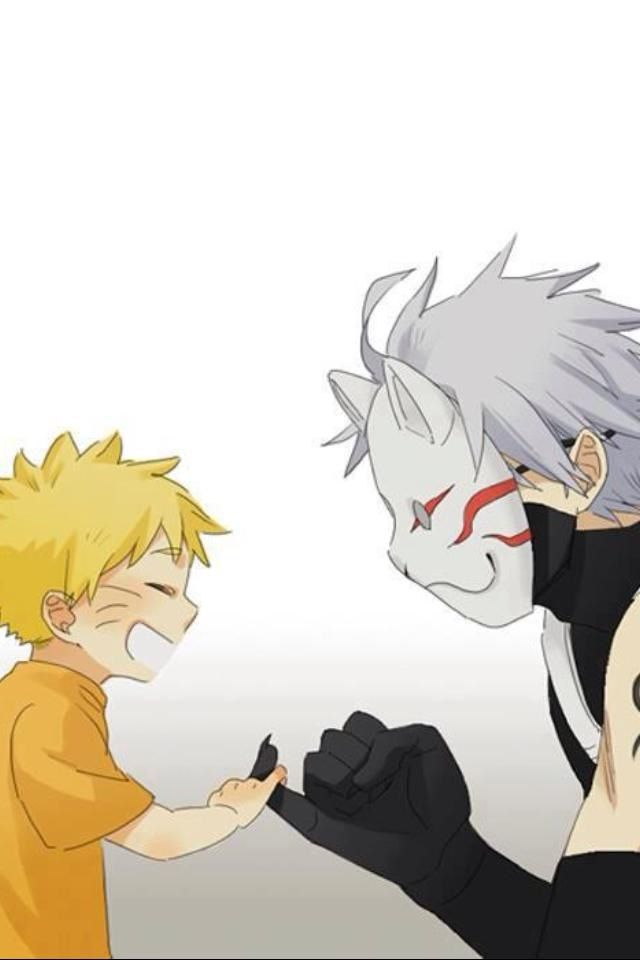 Anbu Kakashi and Naruto :3 Pinky promise, that means shit just got real bro.