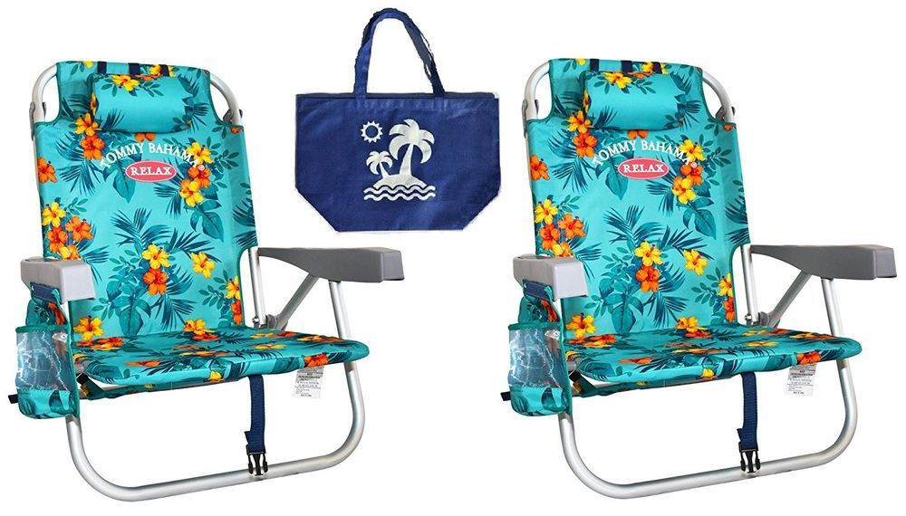 Tommy Bahama Relax Backpack Beach Chairs Turquoise Storage