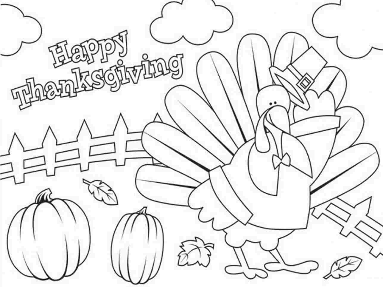 thanksgiving coloring pages free printable - Thanksgiving Turkey Coloring Pages