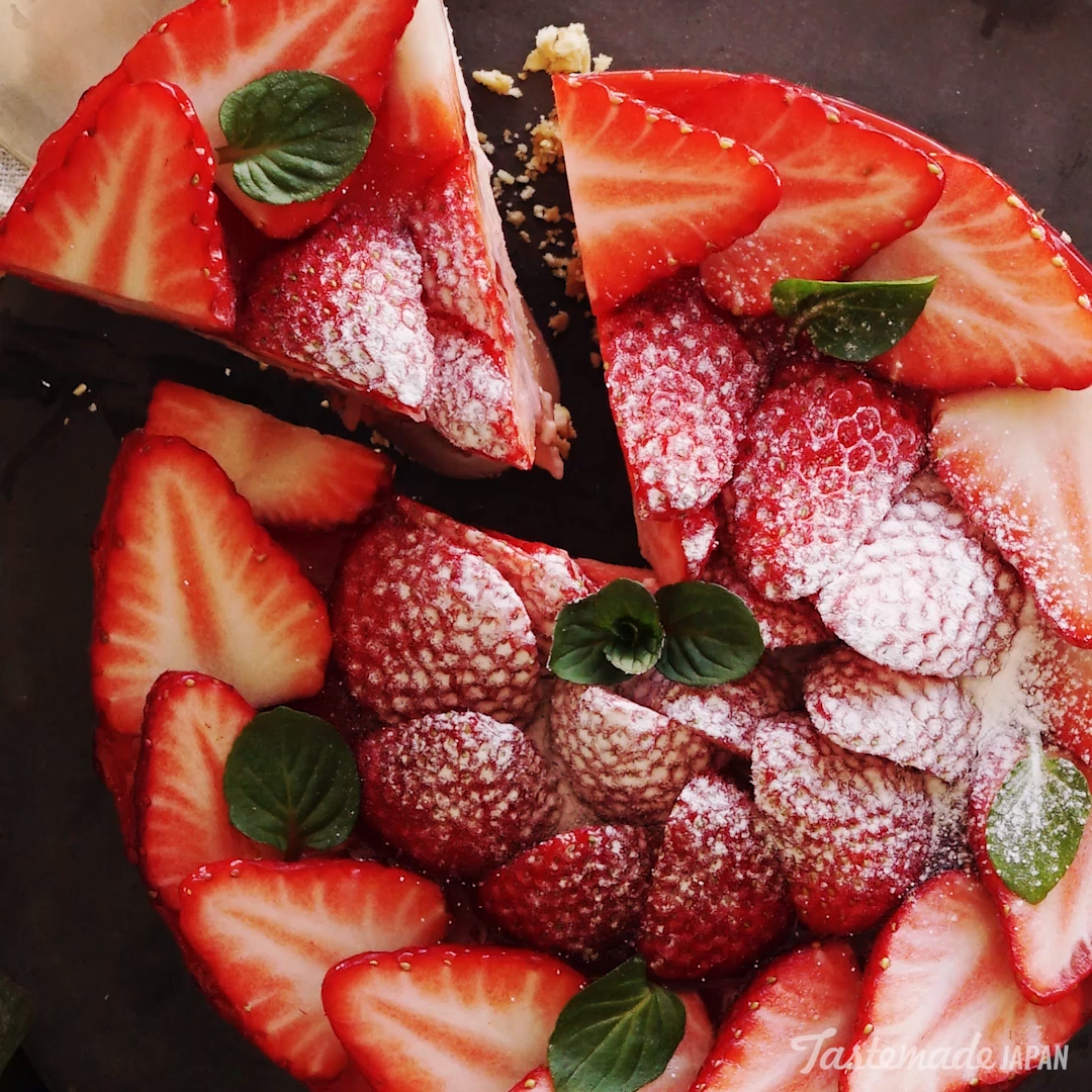 No-Bake Strawberry Cheesecake