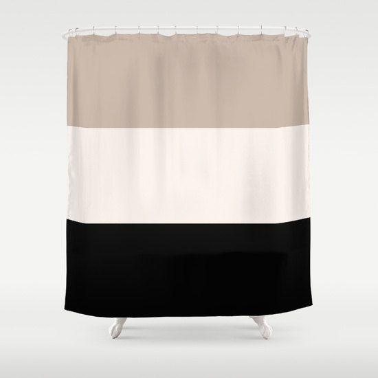 Shower Curtain Tan Black Bathroom Shower Curtain Colorblock Shower