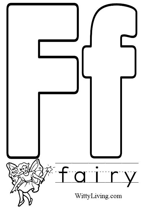 Printable Image Of Letter F Coloring Pages Fairy Coloring Pages