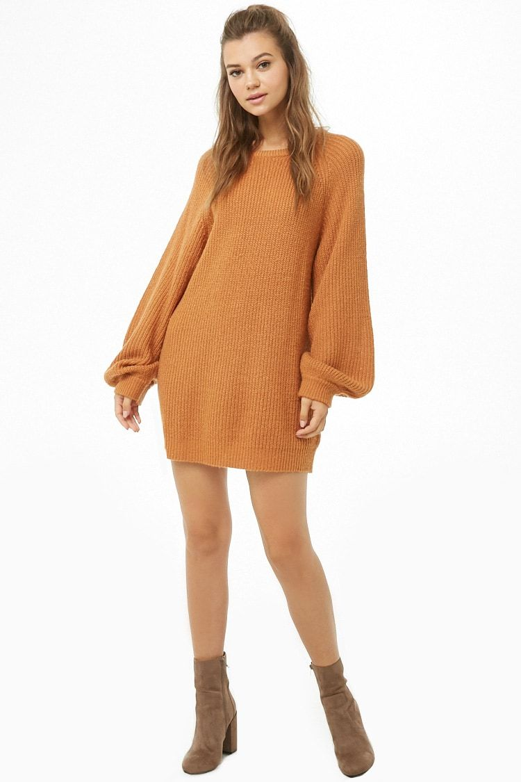 667894f2721 Oversized Ribbed Knit Sweater Dress