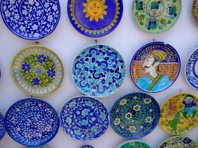 Colorful India Blue Pottery Blue Pottery Jaipur Pottery
